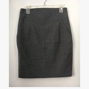 Banana Republic Gray high waisted pencil skirt